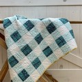 Handmade Modern baby/toddler quilt, Modern patchwork lap quilt throw .