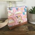 Girls Crossbody Bag - Baby Unicorns on Pink