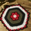 Crochet Pot Holder/Trivet - Modern Red