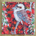 Cushion Cover - 'Kookaburra' - LAST ONE