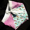 Mermaid wrap around tie up cotton shorts - baby - children - toddler
