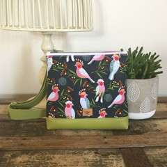 Girls Crossbody Bag - Pink Cockatoo