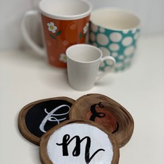 Rustic Wooden Coasters - Custom - Set of 6
