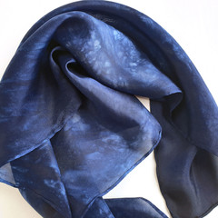 Indigo Blue Silk Tarot Cloth - Neck Scarf - Bandana - Wrist Wrap