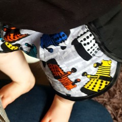 Super funky Dalek cotton shorts - baby - children - toddler