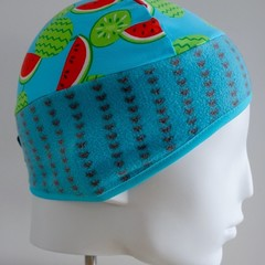 Beanie: unisex, lycra, fleece, slim fit, cycle, ski. Sun protection FREE post