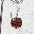 Wild Tiger Stripe Amber Black Czech Glass Bead Earrings