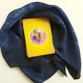 Indigo Blue Silk Tarot Cloth - Neck Scarf - Bandana - Wrist Wrap