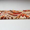 Beaded Bracelet Cuff in Autumn Tones