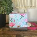 Girls Crossbody Bag - Flamingoes