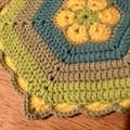 Crochet Pot Holder/Trivet - Good Morning