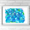 'Harmony' A4 or A3 Giclee Art Print of original mixed media painting.
