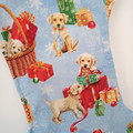 Dog Christmas Stocking  (Christmas Puppies design)