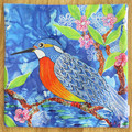 Cushion Cover - 'Kingfisher' LAST ONE