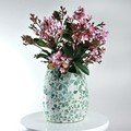 Mosaic Vase in floral shades of the sea...