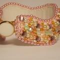Pink & Gold Bracelet Cuff