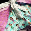 Mermaid wrap around tie up cotton shorts - baby - children - toddler- size 2
