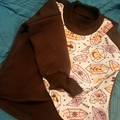 Mystical crossover terry cotton jumper sweatshirt- Baby - toddler - size 0 (12m)