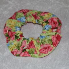 Floral Handmade Scrunchie