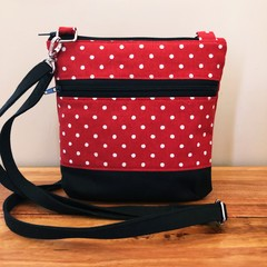 Red Dots   - Crossbody Handbag