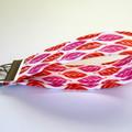 2 x Wrist Key Fobs / Keyrings - Purple Leaves, Red Leaves