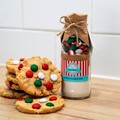 SANTA'S Cookie Mix. Makes 6 or 12  large Christmas coloured Cookies