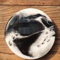 Coasters ( 4 set) Black & White Resin