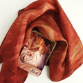 Autumn Colours Silk Tarot Cloth and Wrap - Handpainted Silk Scarf - Altar Cloth