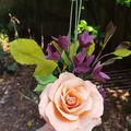 Peach rose bouquet || crepe paper flowers, flower bouquet, handmade gift.