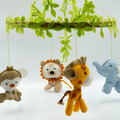 Baby jungle and sun music box mobile~  baby mobile