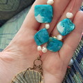 Scallop shell necklace - beach jewellery