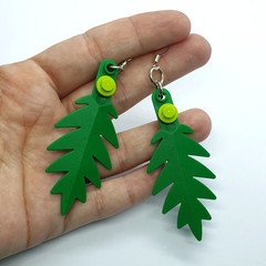 Lego Leaf Earrings