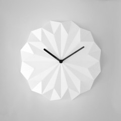 White origami wall clock - SOLA