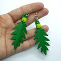 Lego Leaf Earrings