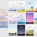 2020 Sky Desk Calendar