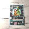 Handmade Christmas card with kangaroo