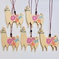 15 x Wooden Llamas for Anellie