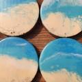 Coasters ( 4 set) Ocean Resin
