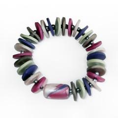 Violetta – Polymer Clay Bracelet