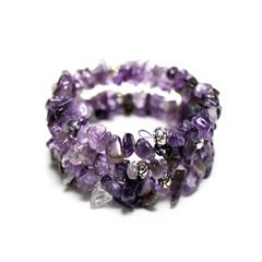 Amethyst – Gemstone Chip Bracelet