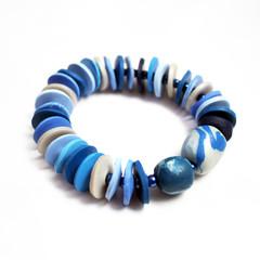 Ocean – Polymer Clay Bracelet