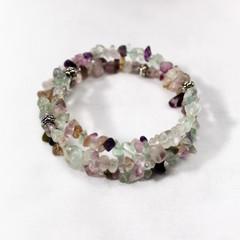 Fluorite – Gemstone Chip Bracelet