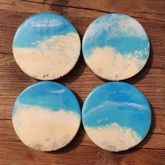 Coasters ( 4 set) Ocean Resin