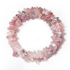 Strawberry Quartz – Gemstone Chip Bracelet