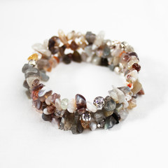 Agate – Gemstone    Chip Bracelet