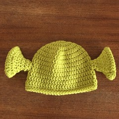 Baby Shrek - Crochet Hat 6 mths