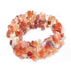 Carnelian – Gemstone Chip Bracelet