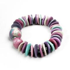 Mauve Mist – Polymer Clay Bracelet