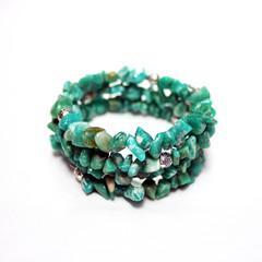 Green Amazonite – Gemstone Chip Bracelet
