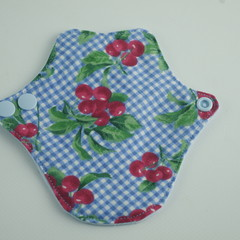 "Cherries Lip Liner 6"" Washable Reusable Cloth Menstrual Pad for Thong/G-string"